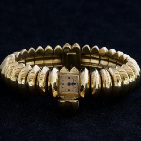 Gold manual bangle watch