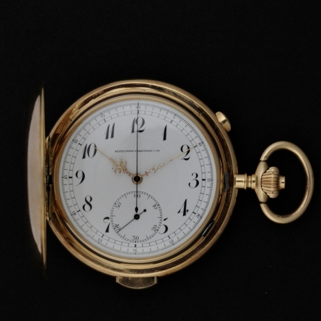 Repeater pocket watch pink gold