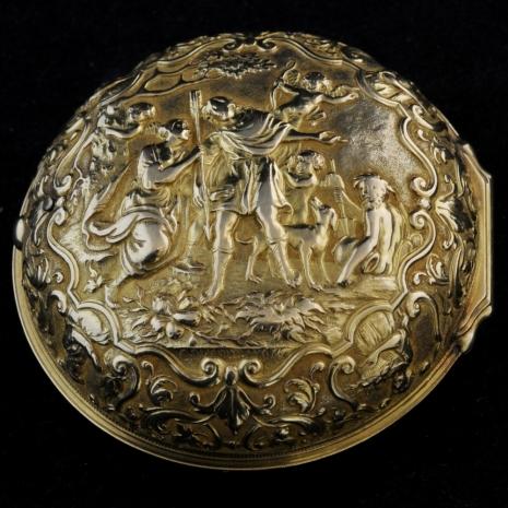 Gold pair-cased verge pocket watch