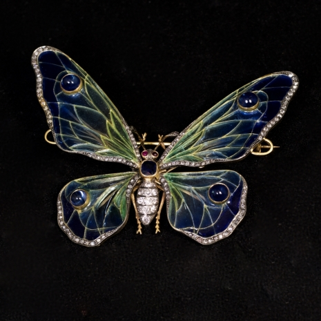 Butterfly brooch enamel