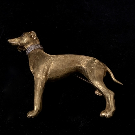 Greyhound brooch