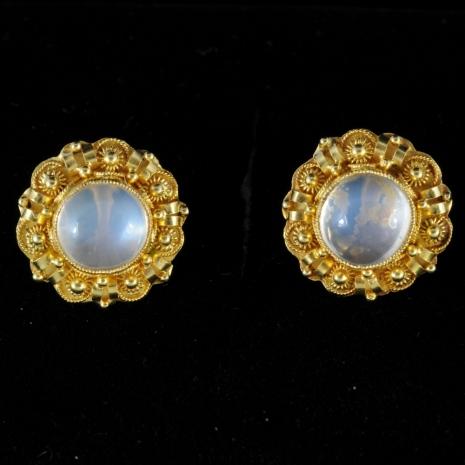 Antique moonstone earrings