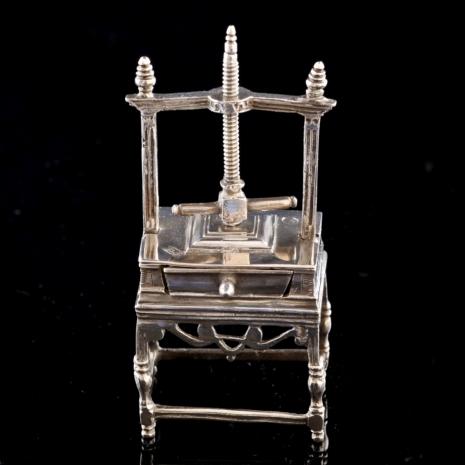 silver miniature linenpress