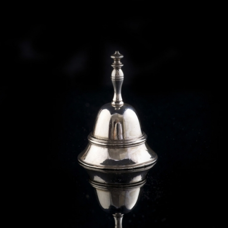 miniature silver table bell
