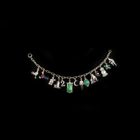 Art Deco charm bracelet
