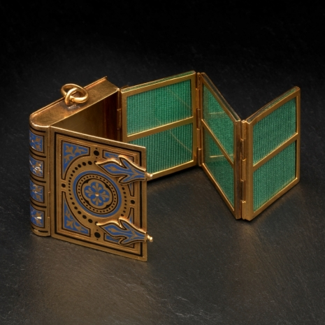 Miniature photo album locket