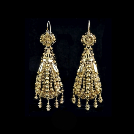 Antique Dutch earrings (cap bells)