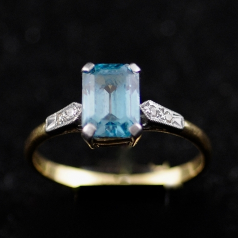 Zircon Ring Art Deco