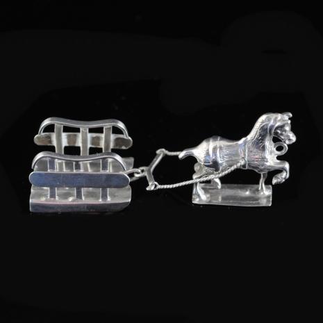 Miniature silver Ice Sledge