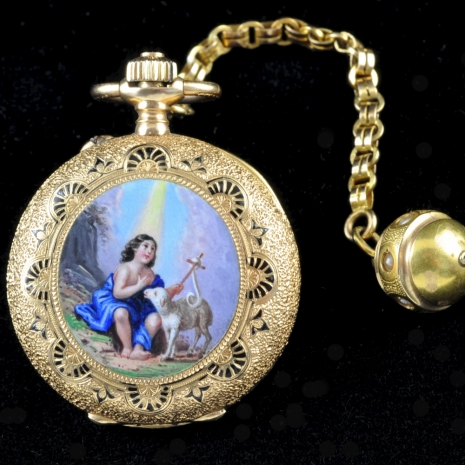 Lady's religious pendant watch
