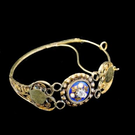 Antique Dutch earrings (enamel)