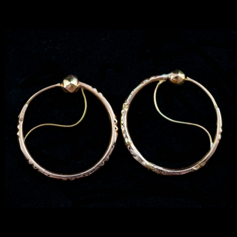 Antique gold earrings