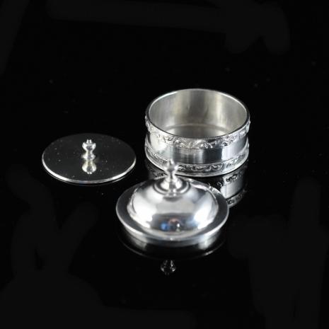 Miniature Silver Tobacco Jar