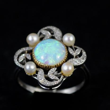 Garland Opal Ring