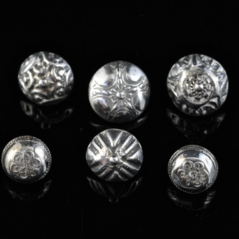 Antique silver buttons