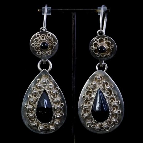 Antique jet earrings