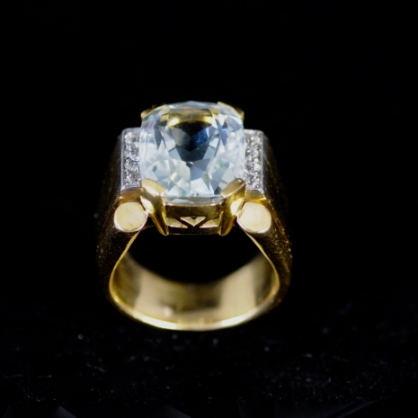 Aquamarin 40ths Ring