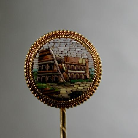 Micro mosaic Tie-pin