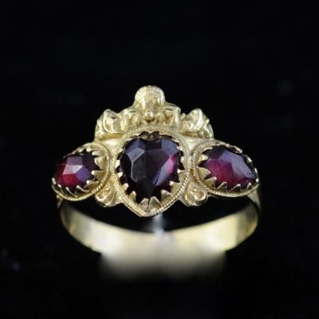 Garnet Crown Ring