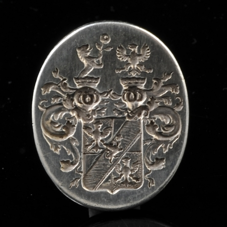 Silver stamp with wapen seal