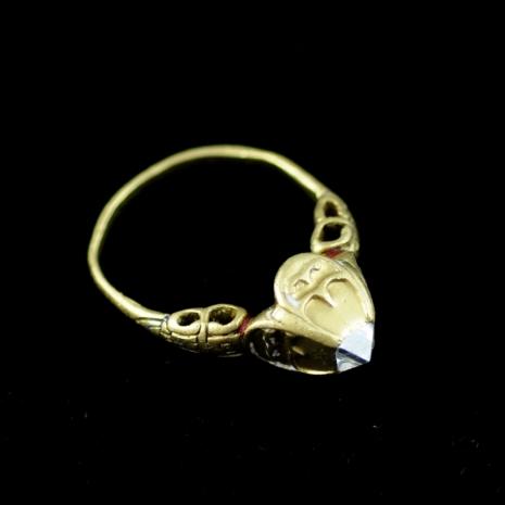 Renaissance Octahedron Diamond Ring
