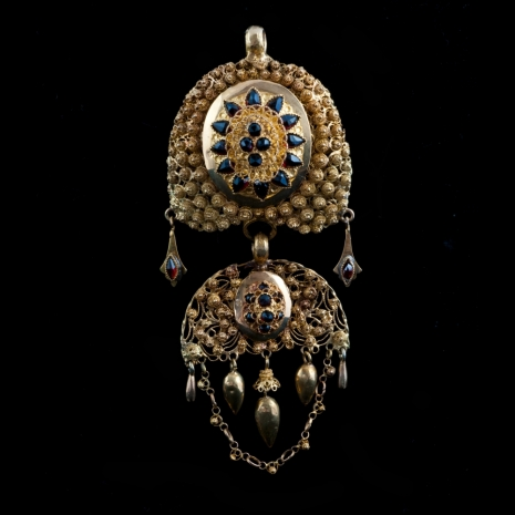 Antique Dutch hood ornament, cannetille work