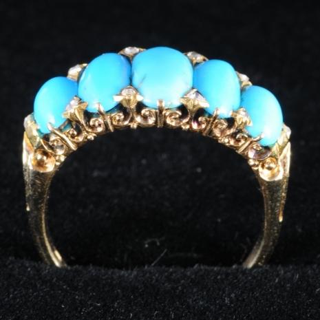 Antique turquoise ring