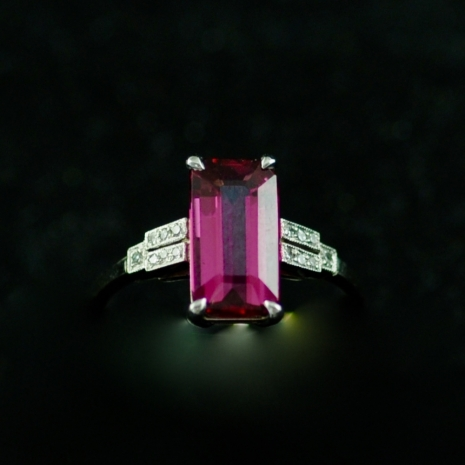 Tourmaline Ring Art Deco