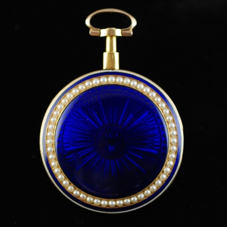 Blue enamel Pocket Watch
