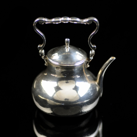 Silver miniature water kettle