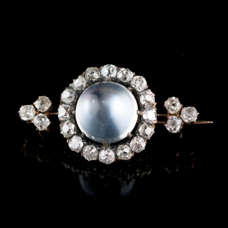 Antique moonstone brooch
