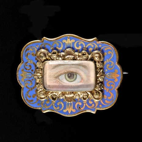 Georgian Lovers Eye Brooch