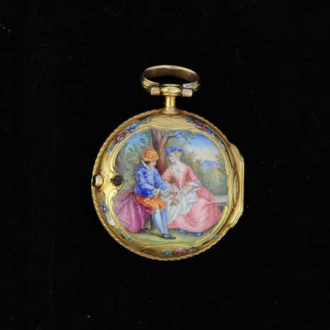 Miniature enamel Watch Louis XV