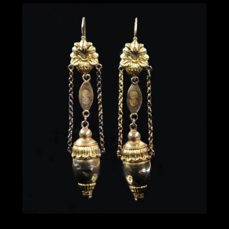 Antique Dutch earrings (acorn bells)