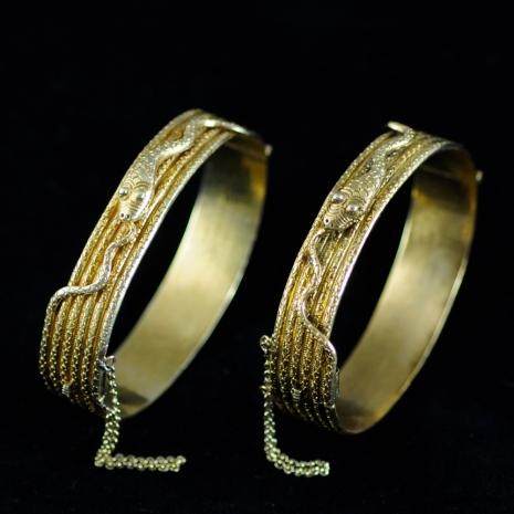 A pair of Snake Bracelets