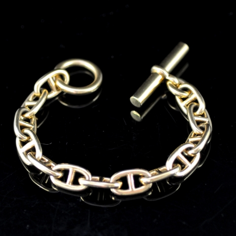 Gold Chaine d'Ancre Bracelet