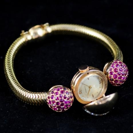 Snake necklace pink gold