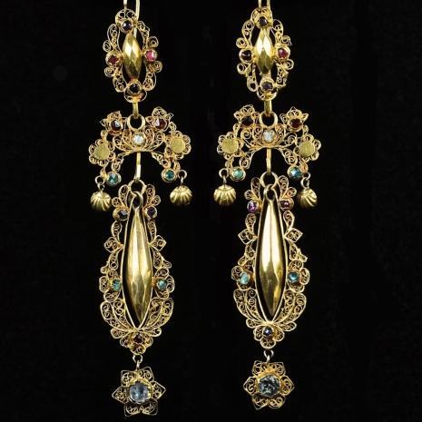 Antique Dutch earrings
