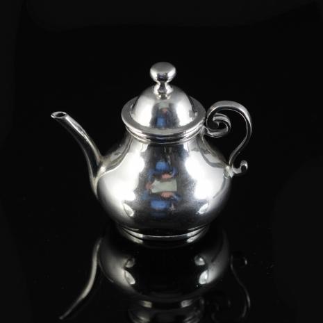 Miniature silver teapot