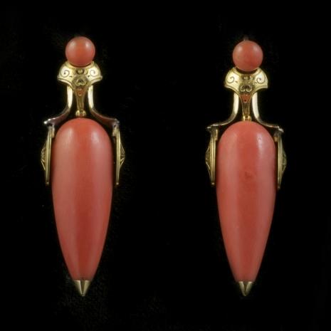 Amphora ear pendants